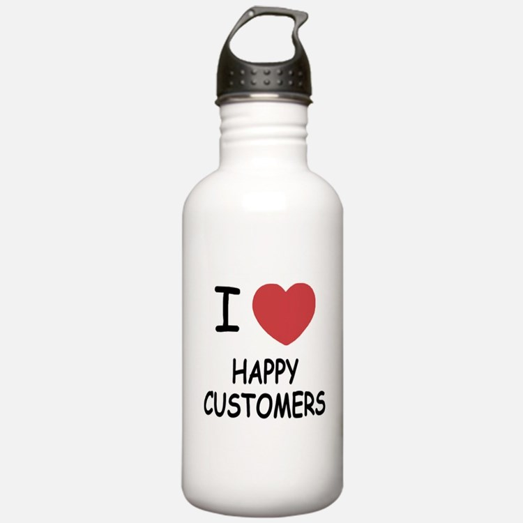 I heart happy customers Water Bottle