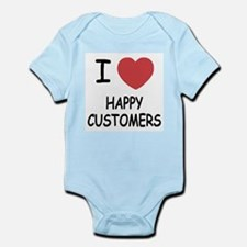 I heart happy customers Infant Bodysuit