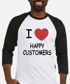 I heart happy customers Baseball Jersey
