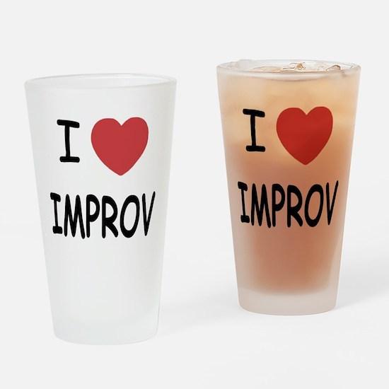 I heart improv Drinking Glass