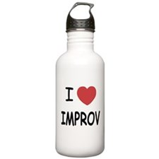 I heart improv Water Bottle