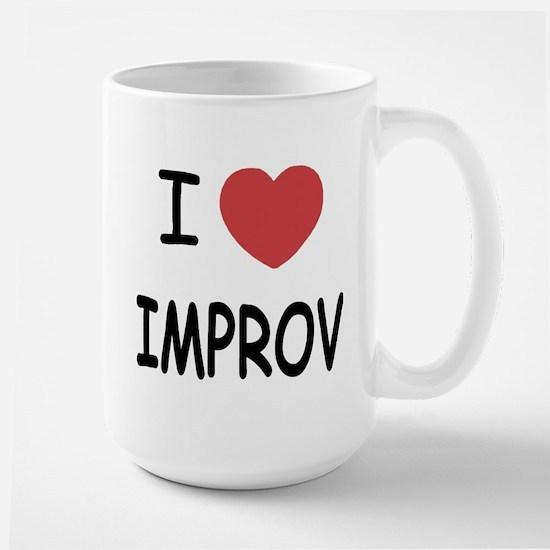 I heart improv Large Mug