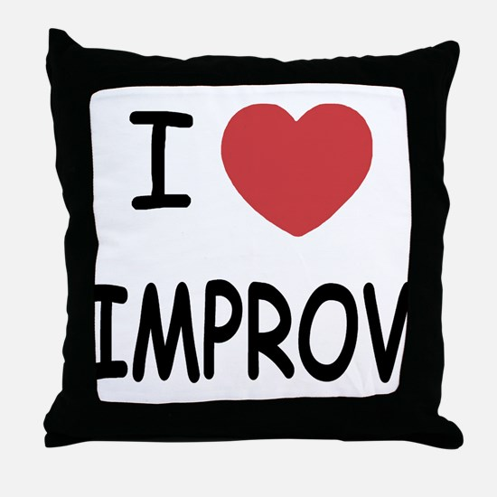 I heart improv Throw Pillow