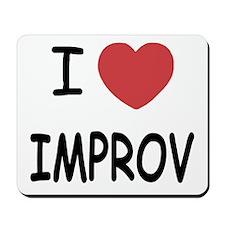 I heart improv Mousepad
