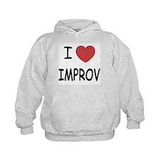 I heart improv Hoodie