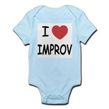 I heart improv Infant Bodysuit