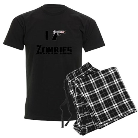 I Kimber Zombies Men's Dark Pajamas