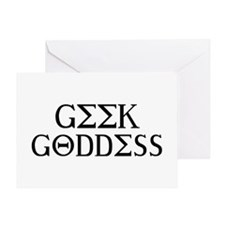 Geek Goddess Greeting Card