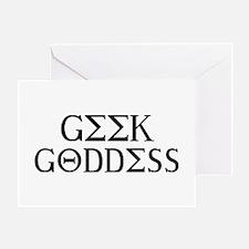 Geek Goddess Greeting Card
