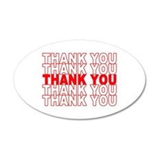 Thank You 22x14 Oval Wall Peel