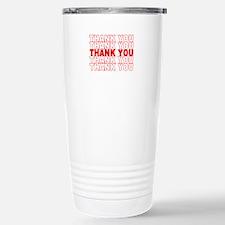 Thank You Stainless Steel Travel Mug