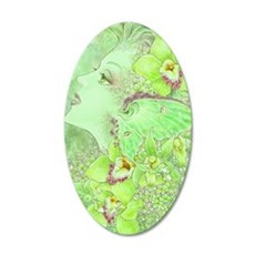 Green Fairy 22x14 Oval Wall Peel
