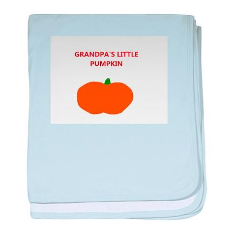 Grandpa's Pumpkin baby blanket