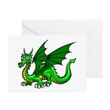 Green Dragon Greeting Cards (Pk of 10)