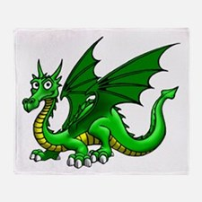 Green Dragon Throw Blanket