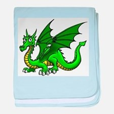 Green Dragon baby blanket