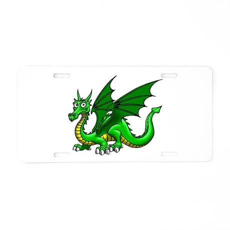 Green Dragon Aluminum License Plate