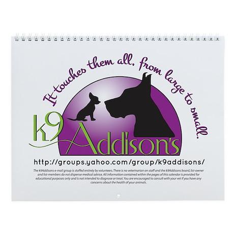 k9Addison's Wall Calendar