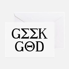 Geek God Greeting Card