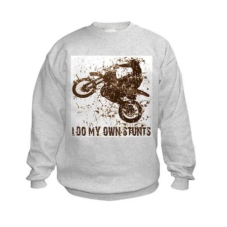 Motorcycle, Dirt Bike Stunts Kids Sweatshirt