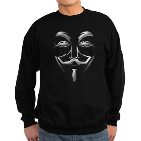 Guy Fawkes Mask Sweatshirt (dark)