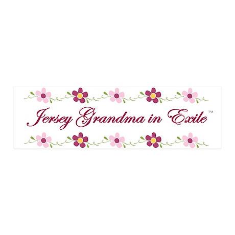 Jersey Grandma in Exile 21x7 Wall Peel