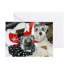 Schnauzer Christmas Blank Note Card