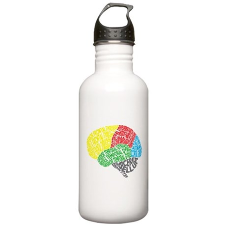 Your Brain (Anatomy) on Words Stainless Water Bott