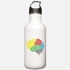Your Brain (Anatomy) on Words Water Bottle