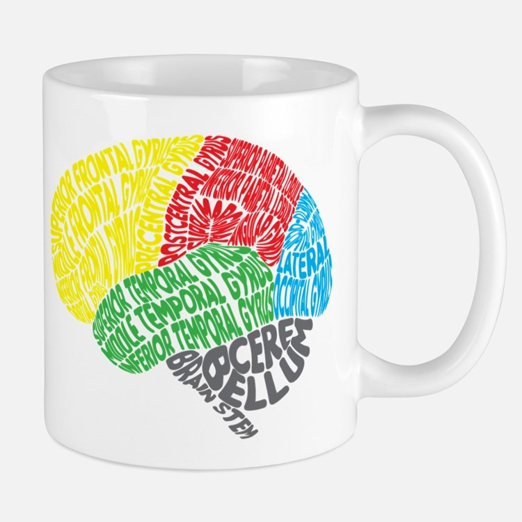 Your Brain (Anatomy) on Words Small Small Mug