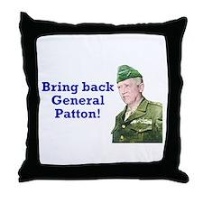 George Patton Throw Pillow