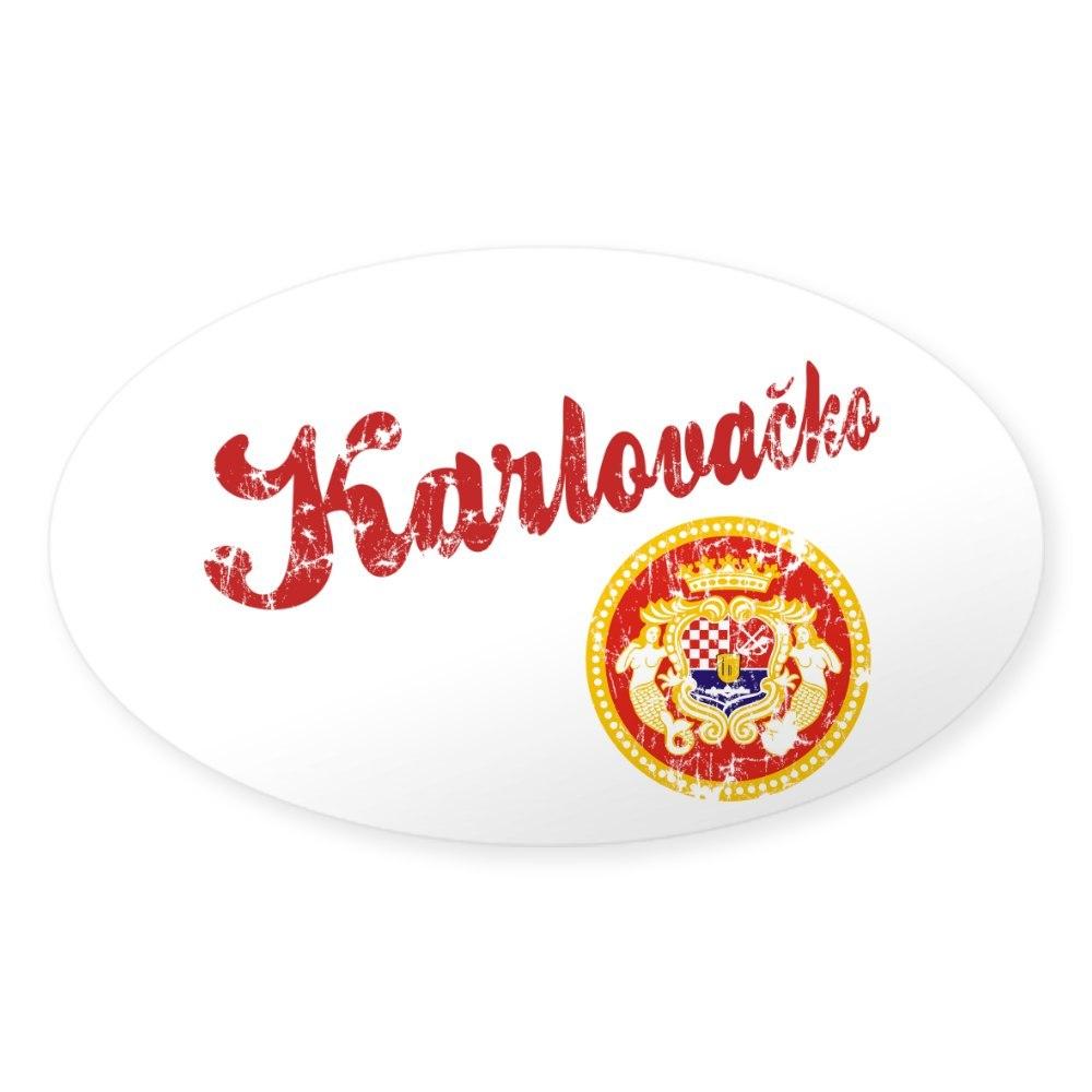 590395189 Euro Oval Car Decal CafePress Karlovacko Oval Bumper Sticker