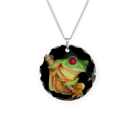 Fun Frog Necklace Circle Charm