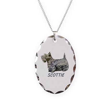 Scottie Necklace Oval Charm