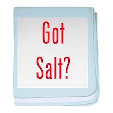 Got Salt? Red baby blanket