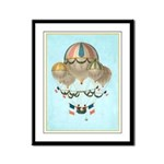 Framed Hot Air Balloon Vintage Look Panel Print