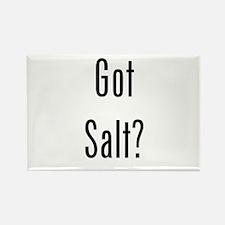 Got Salt? Black Rectangle Magnet