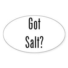 Got Salt? Black Decal