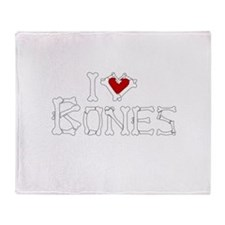 I Love Bones Throw Blanket