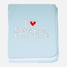 I Love Bones baby blanket