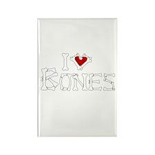 I Love Bones Rectangle Magnet (10 pack)