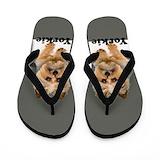 Dogs yorkie Flip Flops