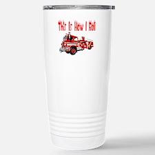 How I Roll- Fire Truck Travel Mug