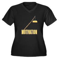 Motivation Twinkie Women's Plus Size V-Neck Dark T