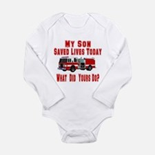 Son-What Did Yours Do? Long Sleeve Infant Bodysuit