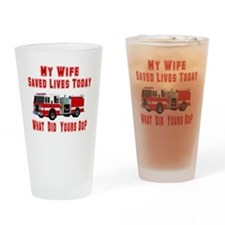 Wife-What Did Yours Do? Drinking Glass