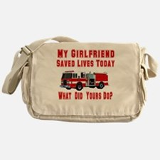 What Did Your's Do? Girlfrien Messenger Bag
