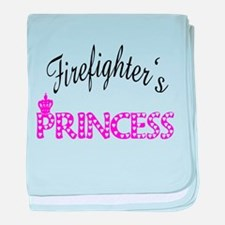 Firefighters's Princess baby blanket