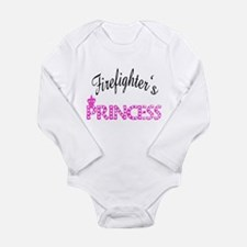 Firefighters's Princess Long Sleeve Infant Bodysui