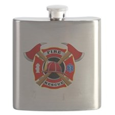 Firefighter Warning-Wife Thermos® Can Cooler